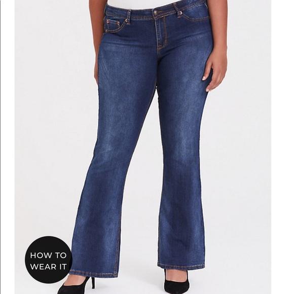 torrid Denim - Torrid bootleg blue jeans.